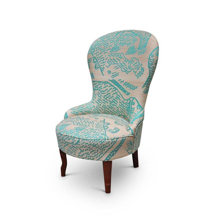 Contemporary Silk Nonnina Armchair For Sale
