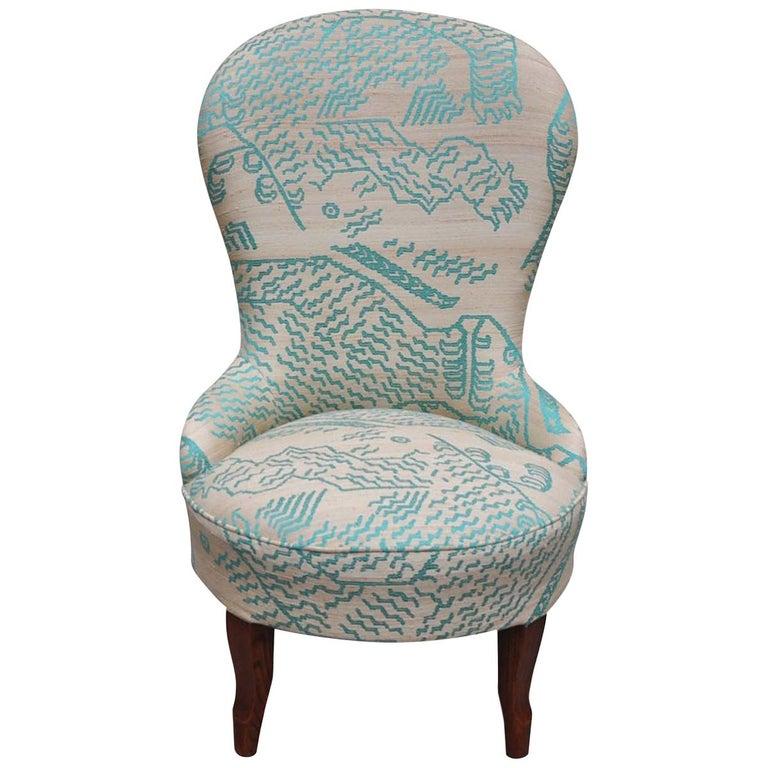 Silk Nonnina Armchair For Sale