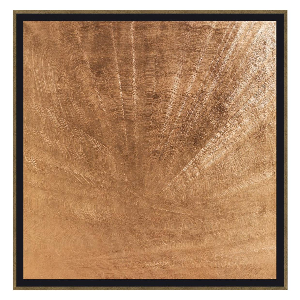 Silk Oil Painting with Wooden Frame by Roberto Cavalli Home Interiors