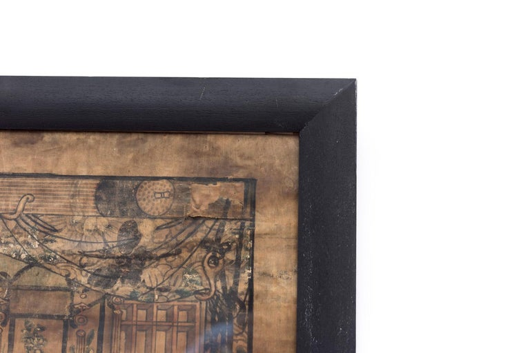 Late 19th Century Silk Painting Figuring Chinese Dignitaries, End of 19th Century For Sale