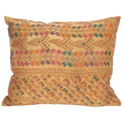 Silk Pillow Case Made from a Middle Eastern Bedouin Dress