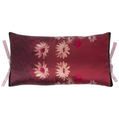 Silk Print Throw Pillow Daisy Rouge