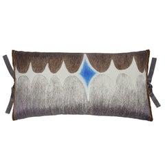 Silk Print Throw Pillow Multi Spear Gray