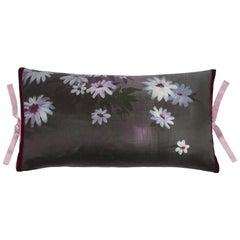 Silk Print Throw Pillow Shadow Garden