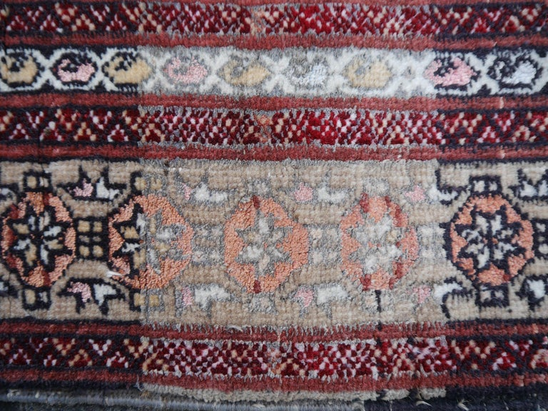 Part Silk Rug Hatchlou Engsi Tribal Vintage Carpet from Afghan Turkoman Tribe In Good Condition For Sale In Lohr, Bavaria, DE