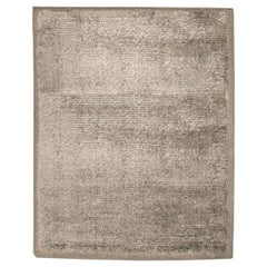 "Silk Rug, Whisper Smooth Collection, ""Aura Ash"" in Grey Color"