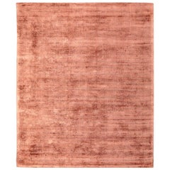 "Silk Rug, Whisper Smooth Collection, ""Whisper Tibetan Rust"""