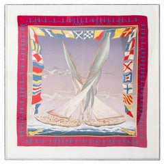 Silk Sailboat Scarf by Hermes