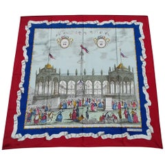Silk Scarf The First Ball of July 14 Bicentenary of the French Revolution 34 inc
