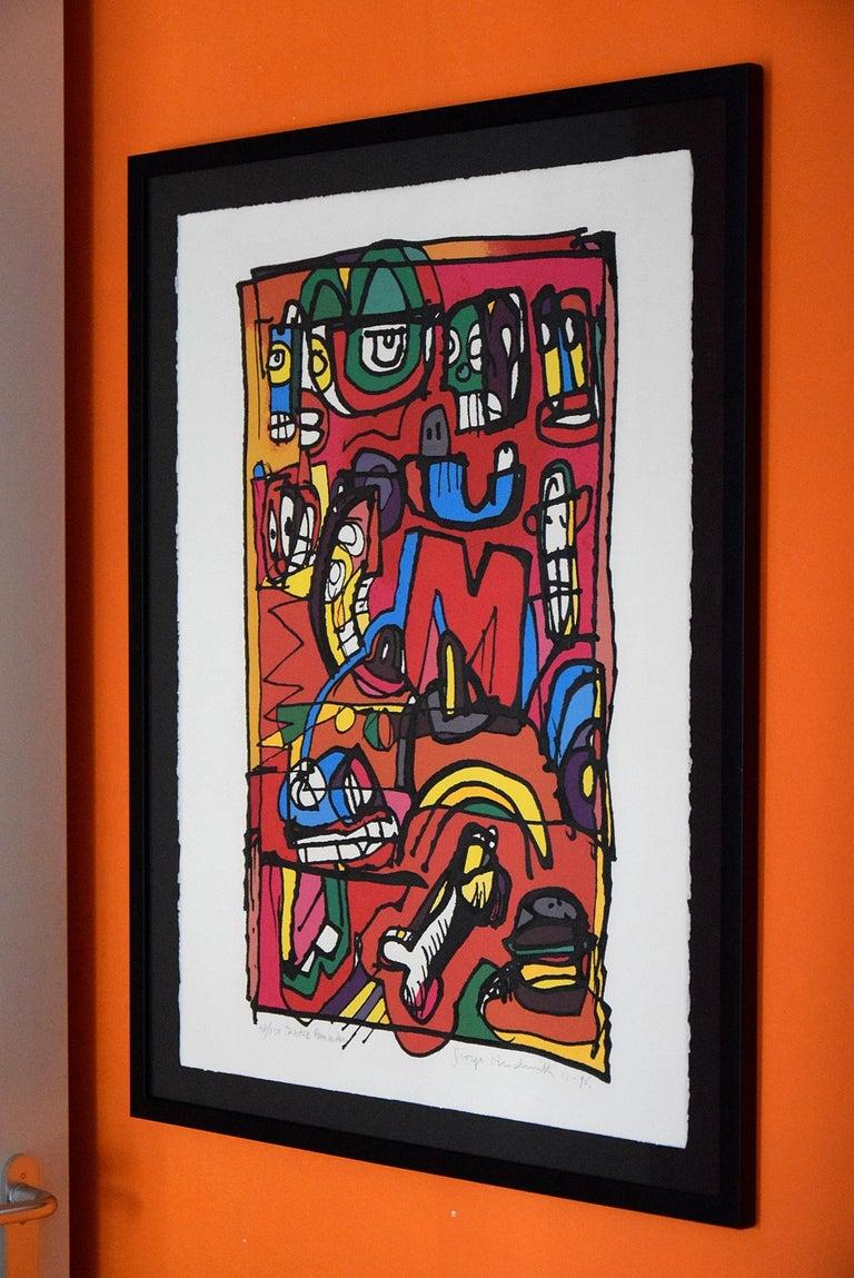 Silk Screen Artwork by George Heidweiller, 1996 For Sale 8