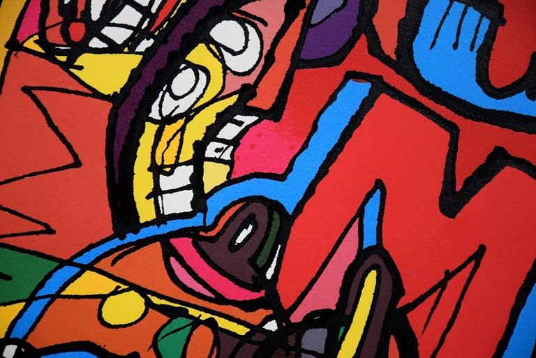 Modern Silk Screen Artwork by George Heidweiller, 1996 For Sale