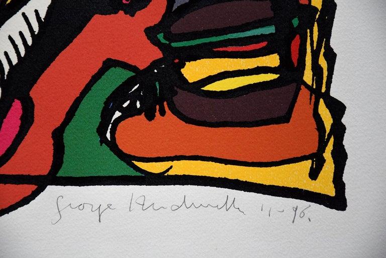 Dutch Silk Screen Artwork by George Heidweiller, 1996 For Sale