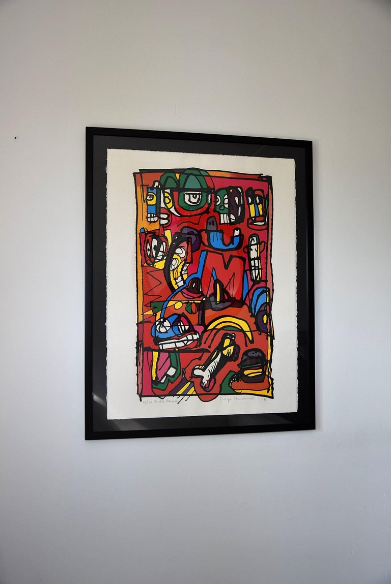 Late 20th Century Silk Screen Artwork by George Heidweiller, 1996 For Sale