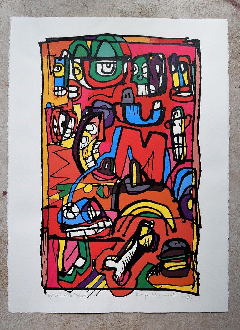 Paint Silk Screen Artwork by George Heidweiller, 1996 For Sale