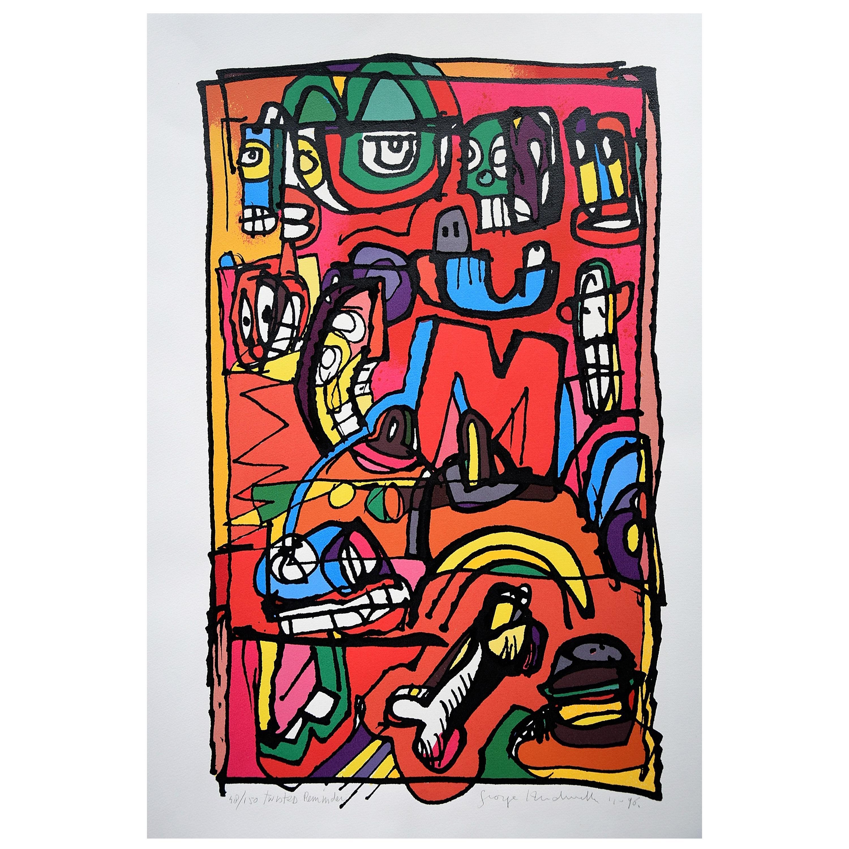 Silk Screen Artwork by George Heidweiller, 1996