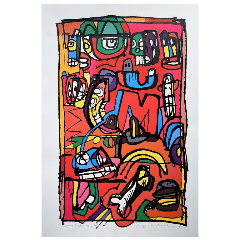 Silk Screen Artwork by George Heidweiller, 1996 For Sale