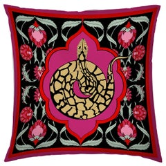 Silk Snake Arabesque Pillow