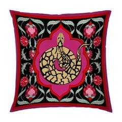Silk Snake Arabesque Pillow Small