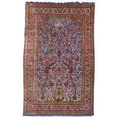 Silk Souf Blue Kashan Paradise of Life Rug