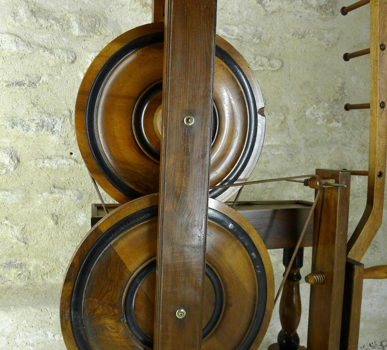 Folk Art Silk Spinning Wheel, 18th Century For Sale
