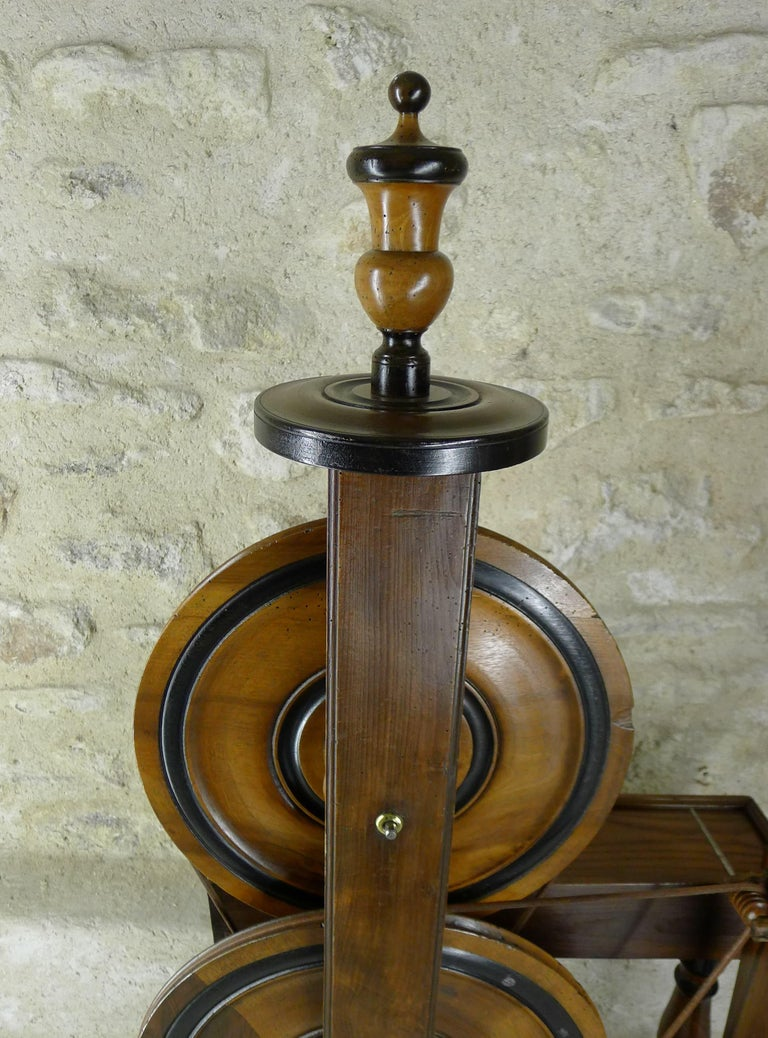 French Silk Spinning Wheel, 18th Century For Sale