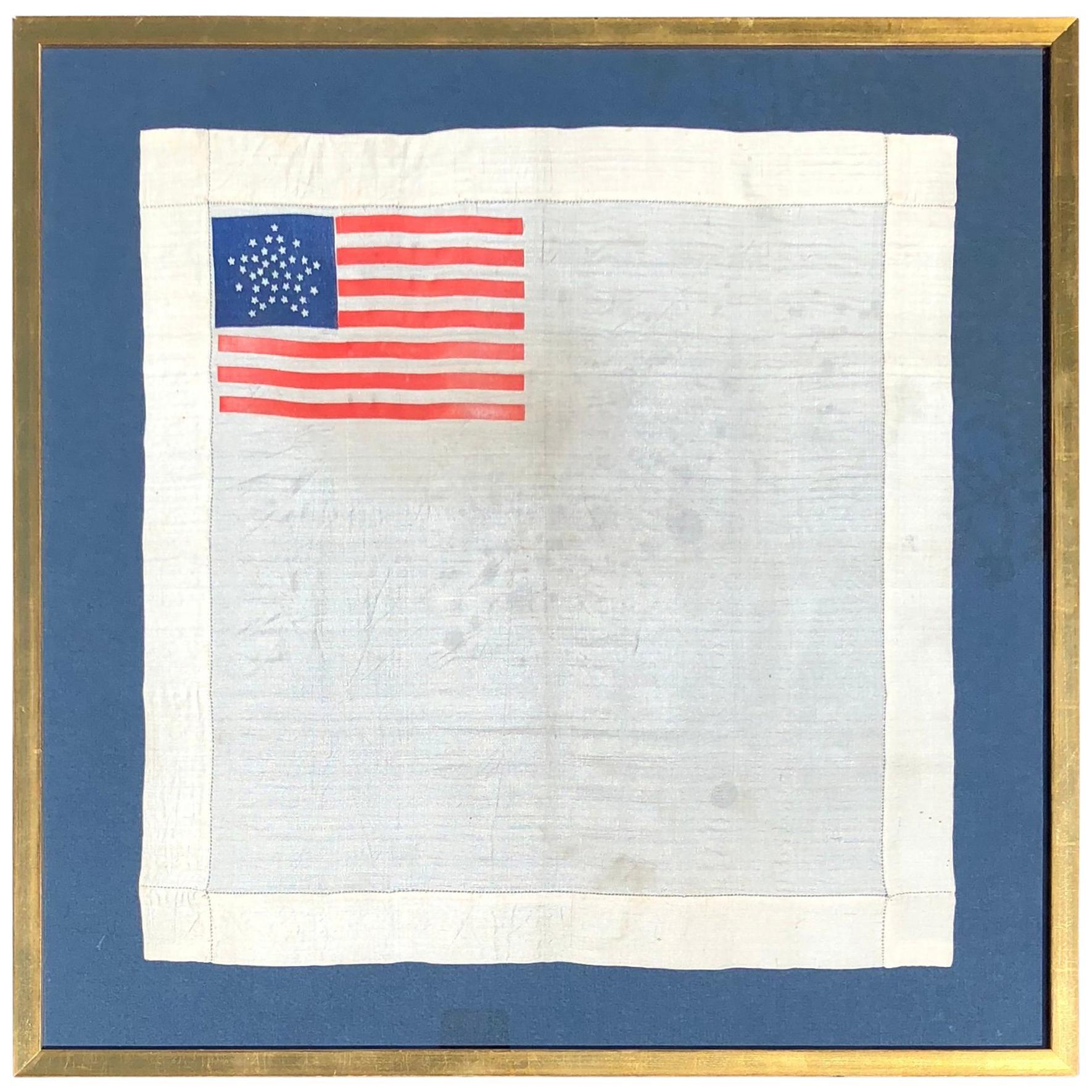 d405b8f4 Silk Star Pattern Colorado Statehood 38 Star American Flag Handkerchief at  1stdibs