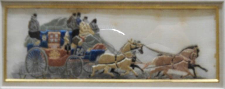 British Silk Stevengraphs Horse Theme by Thomas Stevens For Sale