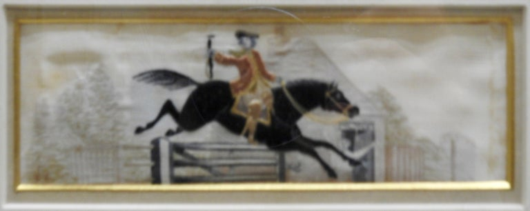 Hand-Crafted Silk Stevengraphs Horse Theme by Thomas Stevens For Sale