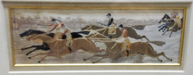 Silk Stevengraphs Horse Theme by Thomas Stevens In Fair Condition For Sale In Cookeville, TN