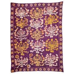 Silk Suzani from Samarkand Uzbekistan, Late 19th-Early 20th Century