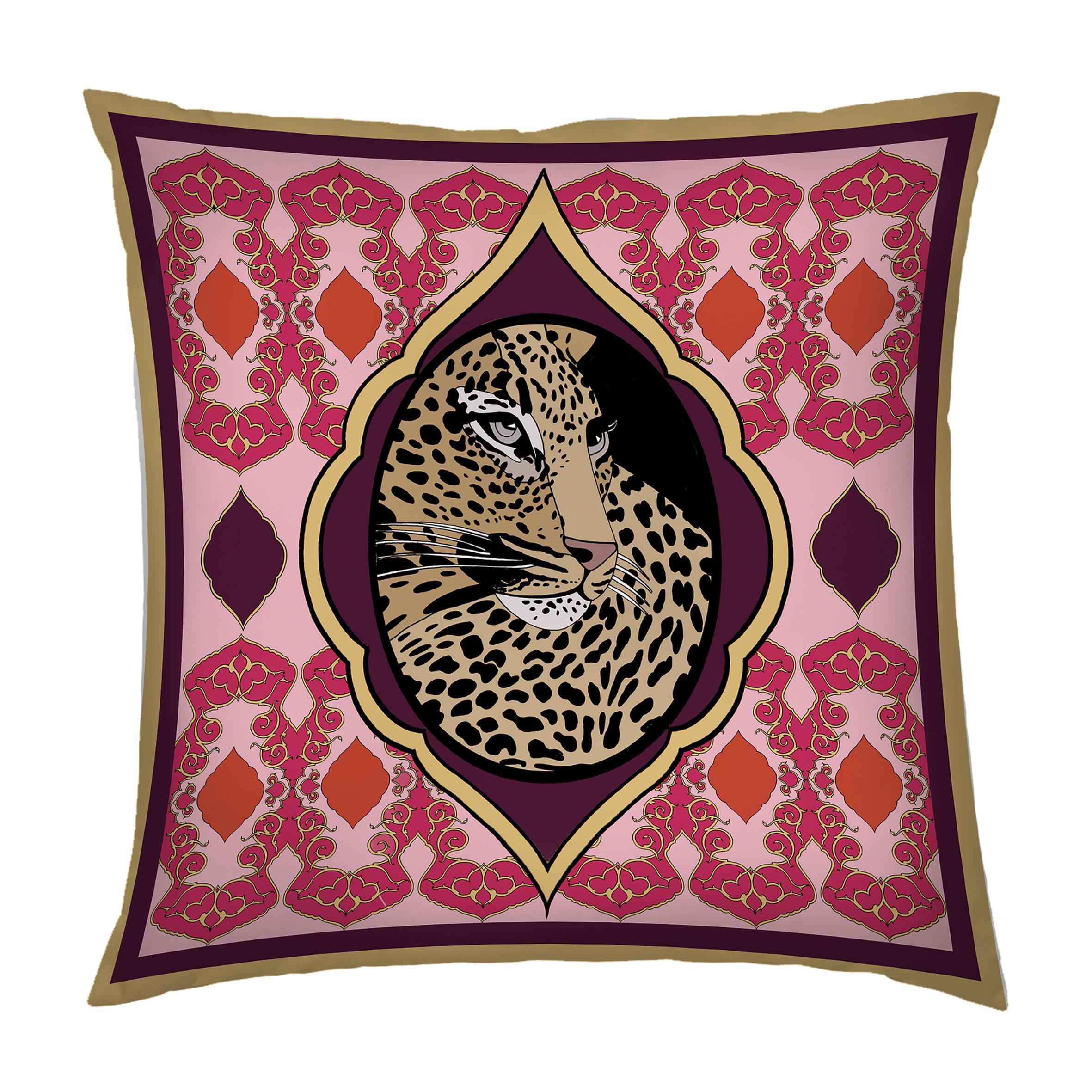 Silk Tiger Arabesque Pillow