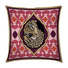 Silk Tiger Arabesque Pillow