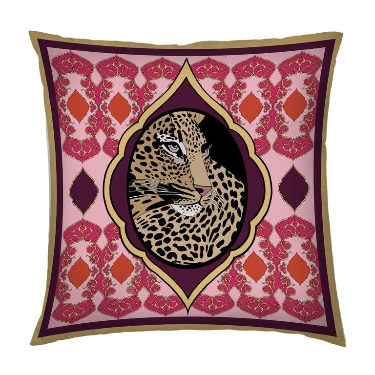Silk Tiger Arabesque Pillow For Sale