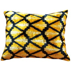 Silk Velvet Cushion Gold