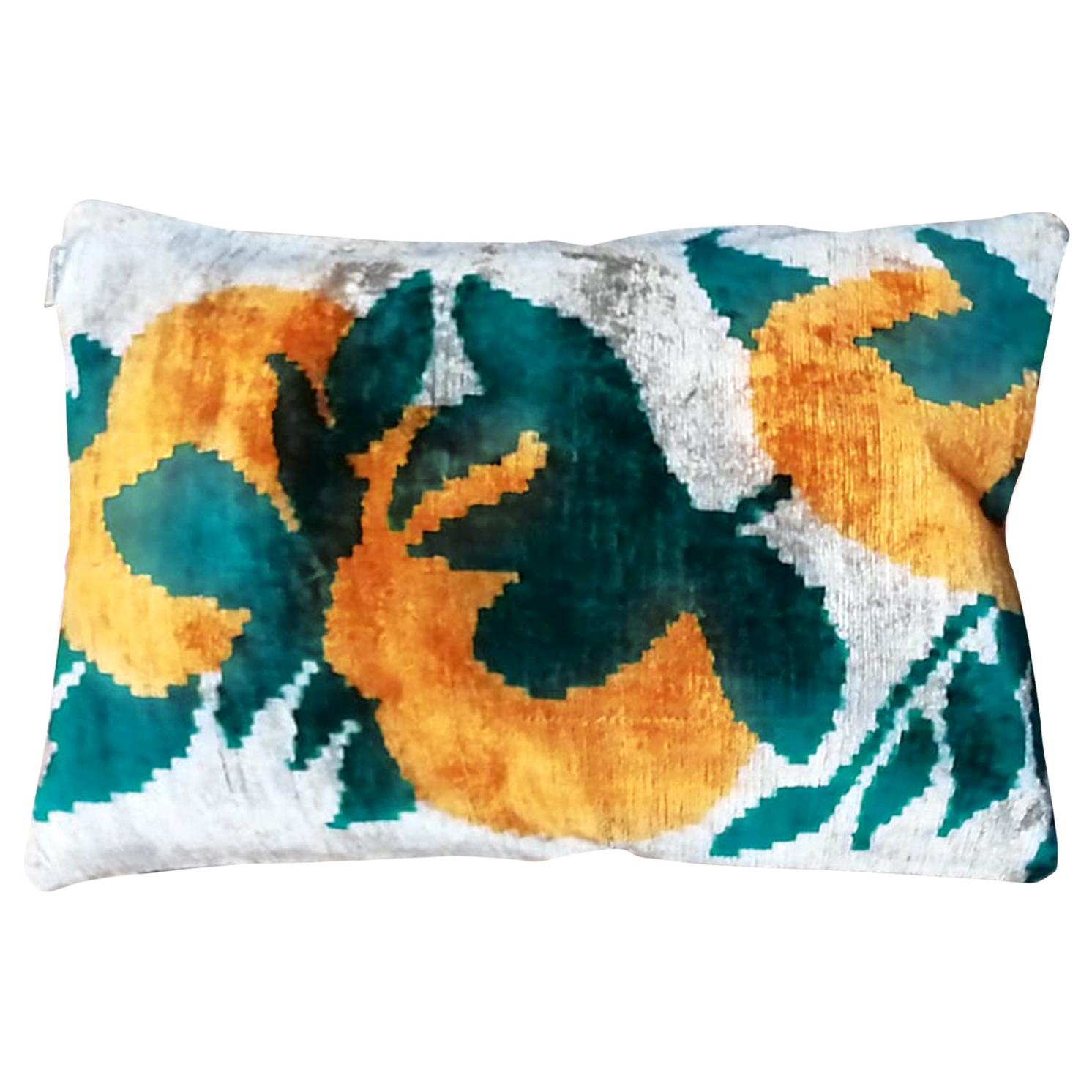 Silk Velvet Cushion Oranges