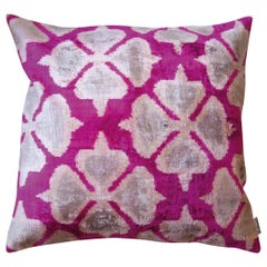 Silk Velvet Cushion Pink Flower Ve34