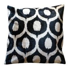 Silk Velvet Evil Eye Pillow