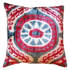 Silk Velvet Ikat Cushion VE47