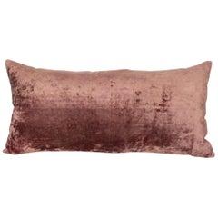Silk Velvet Pillow Case Made from an Early 20th Century Uzbek Velvet