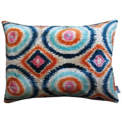 Silk Velvet Pınk Circles Cushion