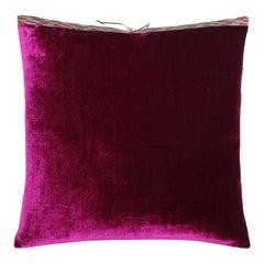 Silk Velvet Throw Pillow Azalea