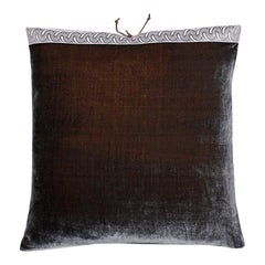 Silk Velvet Throw Pillow Moose