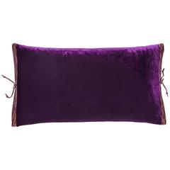 Silk Velvet Throw Pillow Plum