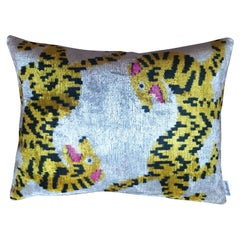 Silk Velvet Tigers Cushion