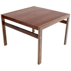 Silkeborg CFC Square Rosewood Side Table with Brass Inlay