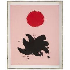 """Silkscreen Titled """"Pink High"""" by Adolph Gottlieb"""