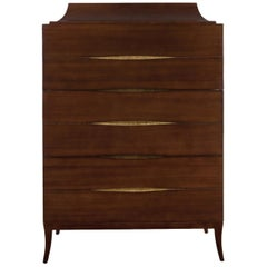 Silky Chest of Drawers in Solid Mahogany Wood