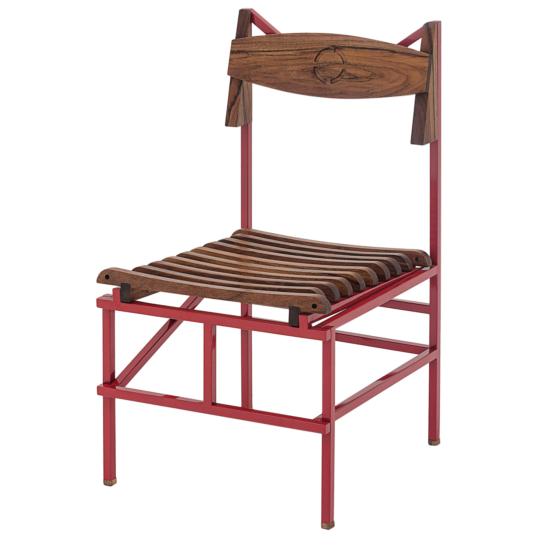 Silla México Outdoor Metallic and Wood Chair