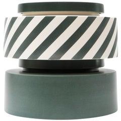 Silos Green and Stripes by Simona Cardinetti, Handmade in Italy