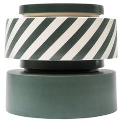 Silos Green and Stripes by Simona Cardinetti, Handmade in Italy